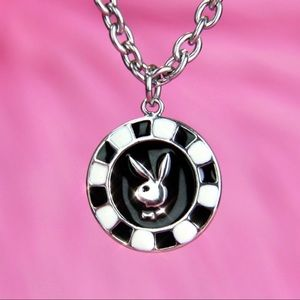 NEW Playboy poker chip unisex necklace